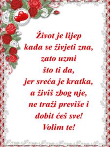 ljubavni stihovi - volim te